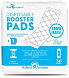 Paw Inspired 30ct Dog Diaper Pads | Disposable Diaper Liners | Booster Pad Inserts fit Most Dog Diapers and Belly Bands | Adds Absorbency, Stops Leaks