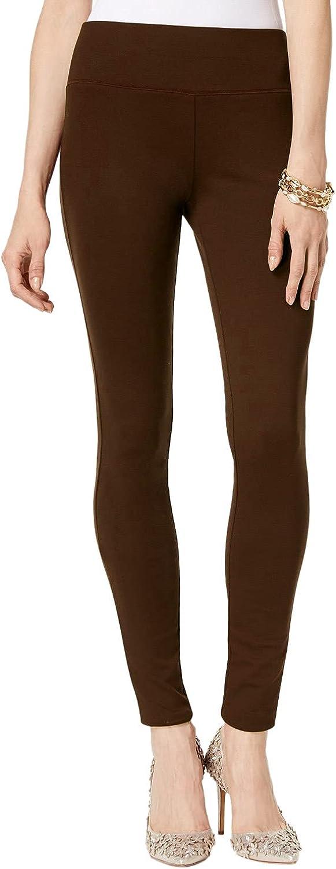 INC Womens Ponte Skinny Casual Pants Brown 10