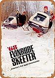 Wall-Color 9 x 12 Metal Sign - 1968 Evinrude Skeeter Snowmobiles - Vintage Look