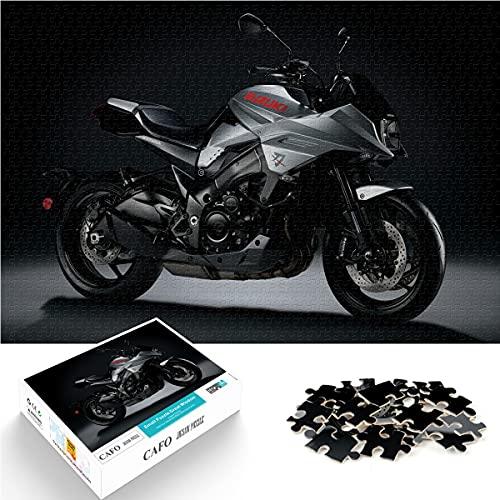 Rompecabezas 1000 Piezas Motocicleta Motocicleta Japonesa Rompecabezas de Papel 26x38cm Juego de Tiempo Libre Desafío Cerebral