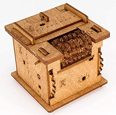 Cluebox - 60 min Escape Room in a Box. Schrödingers Cat. Wooden Brain Teaser 3D Puzzle. Box logic game. Gift box. Questbox from selon