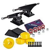 Cal 7 Skateboard Package | Complete Combo Set with 139 Millimeter / 5.25 Inch Aluminum Trucks, 52mm 99A Wheels...
