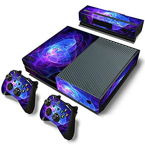 dotbuy Xbox One–Consola Decal Vinyl Skin adhesivo pegatina + mando 2adhesivo + 1–Kinect adhesivo Set morado Purplish Coils