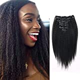 Best Human Hair Extensions - Lovrio 9A Grade Kinkys Straight Hair Clip in Review