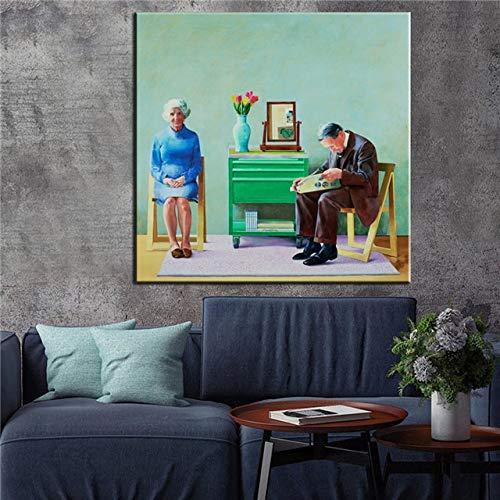 5D diamant schilderij kit kruissteek cm David Hockney A Bigger Splash ist Custom Home Decoration Wall voor