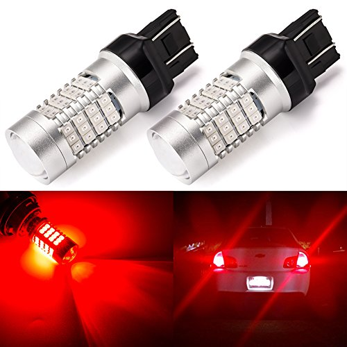 LUYED 2 X 900 Lumens 12-24v Red color Super Bright 3014 78 SMD 3056 3156 3057 3157 LED Bulbs Back Up Reverse Lights,Brake Lights,Tail Lights