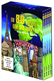 In 80 Tagen um die Welt - Auf den Spuren von Phileas Fogg (4 DVDs in einem Sammelschuber) Gesamtlaufzeit: ca. 377 Minuten