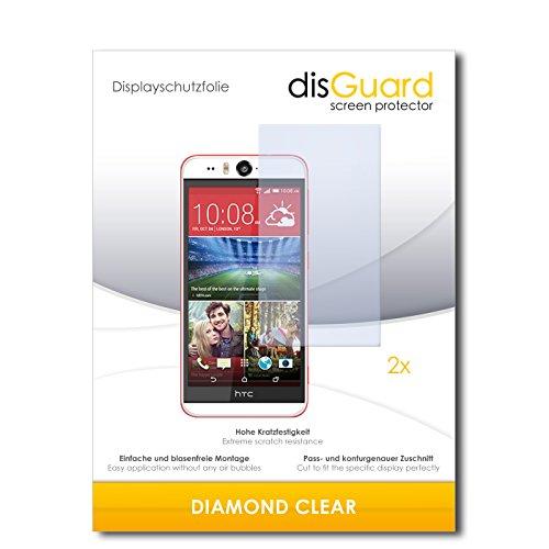 disGuard 2 x Bildschirmschutzfolie HTC Desire Eye Schutzfolie Folie DiamondClear unsichtbar
