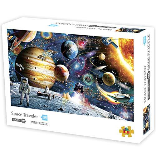 Rompecabezas de 1000 Piezas Niños Adultos - Planetas en el Espacio Rompecabezas 42 * 29.7cm