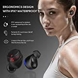 True Wireless Stereo HIFI Earbuds VOTOMY【2020 NEW】TWS Earphones Qualcomm Bluetooth 5.0 Tech Noise Cancelling Mic In Ear Headphone 2500mAh Power Bank LED Display IPX7 Waterproof 150H Playtime for Gym