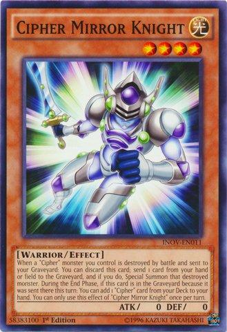Yu-Gi-Oh! - Cipher Mirror Knight (INOV-EN011) - Invasion: Vengeance - 1st Edition - Common