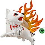 JJRPPFF Q Version Amaterasu Figure, 3.9 Inches Okami Character Model, Multiple Accessories Included Can Moved Nendoroid Doll, PVC Material Game Girl Figma (for Gift Collection)