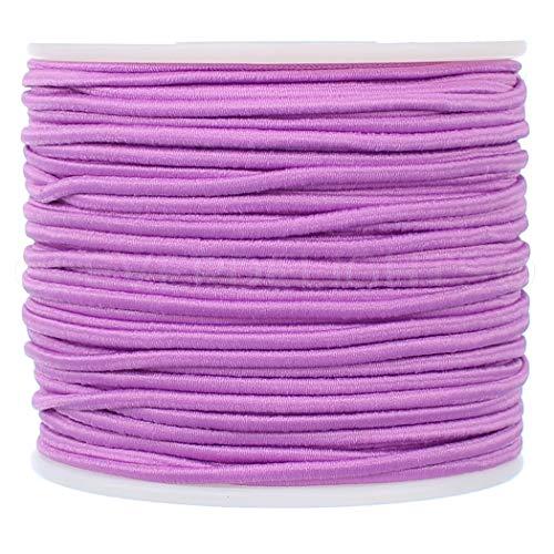 CleverDelights 2mm (1/16') Elastic Cord - Lavender - 150 Feet