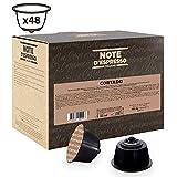 Note D'Espresso Cápsulas de Café Cortado Instantáneo Exclusivamente Compatibles con cafeteras de cápsulas Nescafé* y Dolce Gusto* 48 Unidades da 6,3g, Total: 302.4 g
