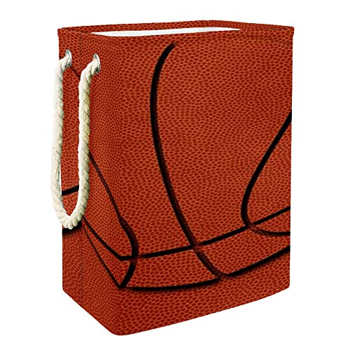 Nobrand Basketball-Wäschekorb für Wäschekörbe, integriertes Futter mit abnehmbaren Klammern, faltbarer Wäschesammler für Spielzeug und Kleidung