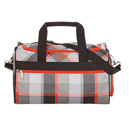 4YOU Sporttasche Sporttasche M Squares 23 Liters Mehrfarbig (Grey/Orange) 17000495100