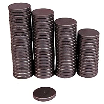 Creative Hobbies Ceramic Industrial Magnets - 1 Inch  25mm  Round Disc - Ferrite Magnets Bulk for Crafts Science Refrigerator or Whiteboard - 25 Piece Pack