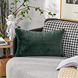 Home Brilliant Emerald Green Throw Pillow Cover Holiday...