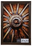 Gallery Solutions 16FP2209 20x30 Large Wall Hanging Picture Poster Frame, 20' x 30', Walnut