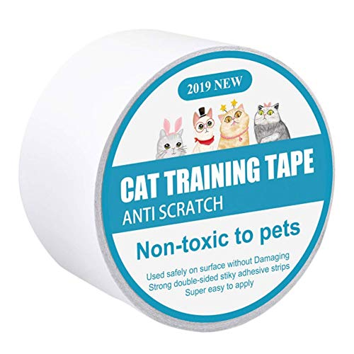 Smilikee Cat Training Tape Anti Scratch Deterrent Sticky Paws Tape, Cat Furniture Protector Training Tape Anti Scratching, Double Sided Guards for Carpet, Sofa