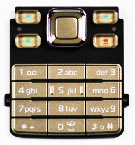 Keypad per Nokia 6300 All Gold (Original)