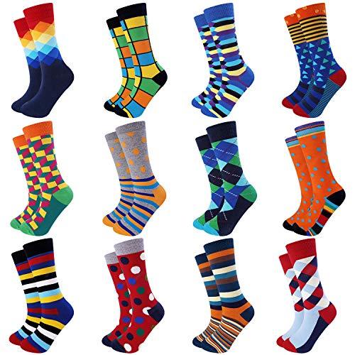 Jeasona Mens Dress Socks Crew Pack Funny Fun Crazy Novelty Cool Funky...
