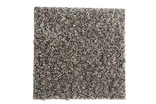 """SMART SQUARES in A Snap 9"""" x 9"""" Residential Soft Carpet Tile, Peel and Stick, Easy DIY Installation, Seamless Appearance, Made in USA (1 Tile (Sample), Ironside)"""