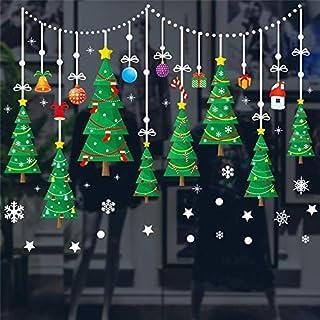 QZHE Ornamento di Natale Per Adesivi Adesivi Statici di ...