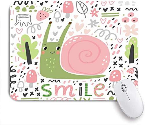 Benutzerdefiniertes Büro Mauspad,Niedliche kleine Schnecke Humor Helix Charakter Augen Waschbecken Haustiere Spaß Wildtiere,Anti-slip Rubber Base Gaming Mouse Pad Mat