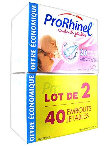 ProRhinel 20 Embouts Jetables Souples pour Mouche Bébé - Lot de 2
