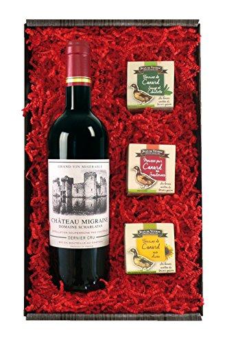 Weingeschenkset Château Migraine Gourmet - Goldmedaille