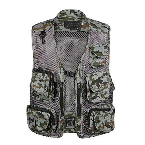 CNBPLS Chaleco de malla con múltiples bolsillos para hombre, chalecos de trabajo para deportes al aire libre, chaleco de pesca, caza, viajes, fotografía, 3, XL
