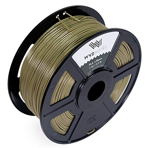 WYZworks PLA 1.75mm [ Military Olive Green ] Premium Thermoplastic Polylactic Acid 3D Printer Filament - Dimensional Accuracy +/- 0.05mm 1kg / 2.2lb + [ Multiple Color Options Available ]