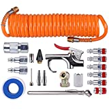 WYNNsky 1/4 Inch NPT Air Accessory Kit - 20 Piece, Air Compressor Hose Tool Kit with Coil ...