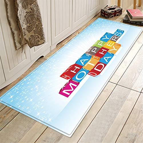 Scrolor Teppiche Rechteck Teppich Wohnzimmer Dekoration Glücklich Muttertag Muster Flanellmatte für Küche Bad