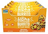 Alpha Foods Breakfast Burrito Original | 5.5 oz (Pack of 12) | 100% Plant-Based Protein | Dairy Free | Frozen Burrito | Vegan