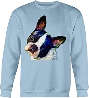 Boston Terrier 'Skipper' Cotton Fleece Crew Sweatshirt