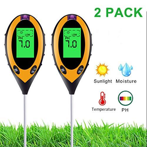 Bodentester, Parkarma Boden Feuchtigkeit Digital-pH-Meter Feuchtigkeitsmesser für Soil Tester Blumen/Gras/Pflanze/Garten/Bauernhof/Rasen/Innen/Außen