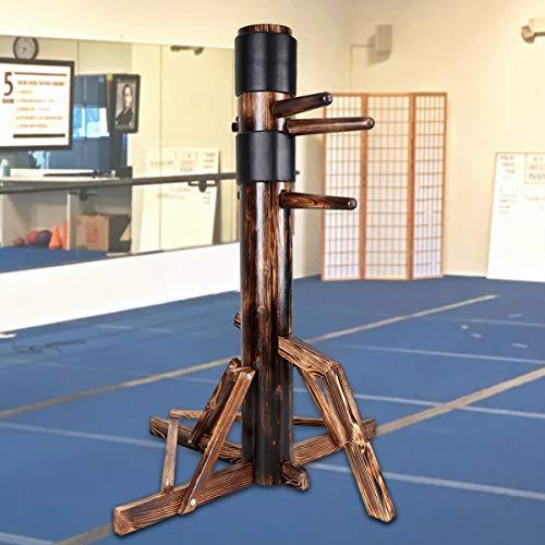 Flex HQ Adjustable Wing Chun Dummy Mook Yan Jong IP Man Training Target Wood Base Dark Brown