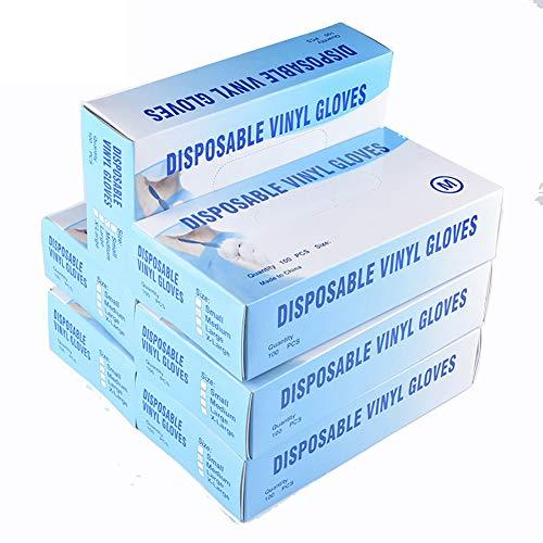 Metermall Home 100st Wegwerphandschoenen Transparante Handschoenen Medische PVC Food Grade Latex Handschoenen