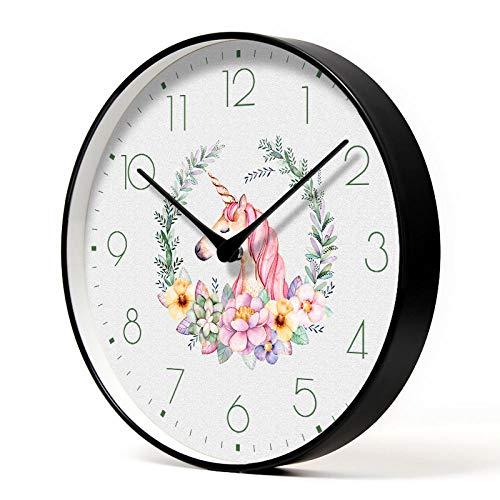 Reloj de Pared Redondo Sala de Estar Nuevo Reloj de Cuarzo acrílico Reloj 3D decoración del hogar Etiqueta de la Pared de Metal Caliente-Solo Manos_14 Pulgadas