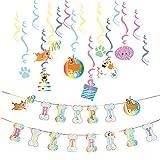 SUNBEAUTY Hunde Geburtstag Dekoration Happy Birthday Banner Hundegeburtstage Partyzubehör Hundeparty Deko