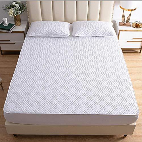 GSYHZL Spannbetttuch mit Einlaufschutz,Baumwolle Super Kingsize-Bett Spannbetttücher, Hotel Apartment Gesteppte rutschfeste Doppelmatratzenschoner-D_150cmx200cm + 30cm