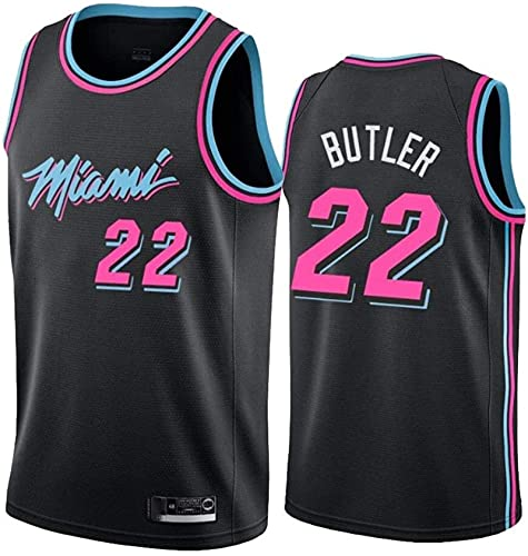 Dll Femmes Hommes Jersey - NBA Miami Heat 22# Butler Maillots Respirant Basketball brodé Swingman Jersey