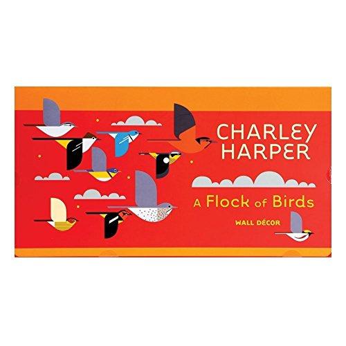 Pomegranate Charley Harper: A Flock of Birds Wall Décor