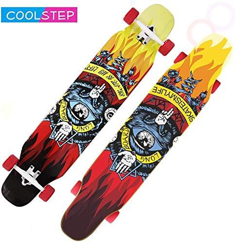 Best Bargain Feceyq Skateboard Longboard Girl Dance Board Freestyle Full Board 8 Layer Canadian Mapl...