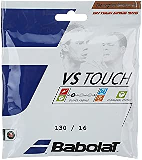 Babolat VS Touch Thermogut (Natural Gut) 16 Gauge in Natural Color (Best String for Performance)