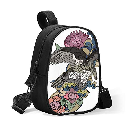 Insulated Baby Bottle Tote Bags for Travel Double Baby Bottle Warmer Or Cool American Eagle Flying Tattoo Breastmilk Baby Bottle Cooler & Travel Bag, Easily Attaches to Stroller Or Diaper Bag