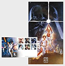 STAR WARS 40th Anniversary Collectible Postage Stamps Souvenir First Day Cover
