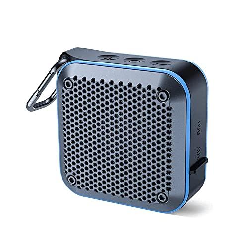 Bdesign Altavoces de Ducha Bluetooth, Altavoz portátil Impermeable con Ventosa incorporada en micrófono Altavoz para teléfono móvil, baños, hogar, etc. (Color : Blue)